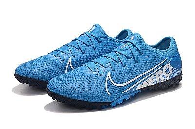 Chuteira Society Nike Mercurial Vapor 13 Pro TF Azul Bebê FRETE GRÁTIS