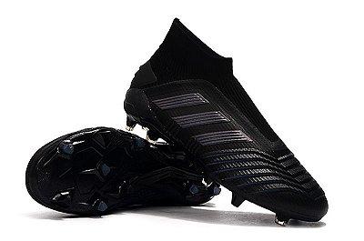 Chuteira Campo Adidas Predator 19+ FG Black (Cano Alto)