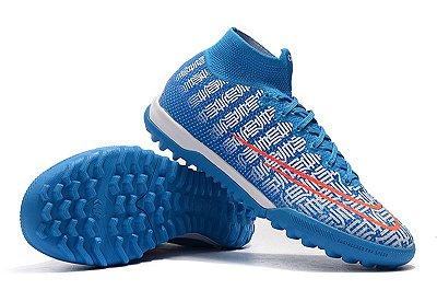 Chuteira Nike Mercurial Superfly 7 Cr7 Elite TF Society Azul FRETE GRÁTIS