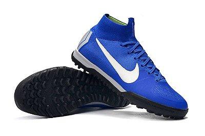 Chuteira Nike Mercurial SuperflyX 6 Elite TF Society Azul FRETE GRÁTIS