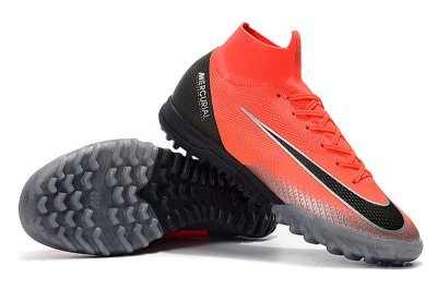 Chuteira Nike Mercurial SuperflyX 6 Cr7 Elite TF Society Laranja e Cinza FRETE GRÁTIS