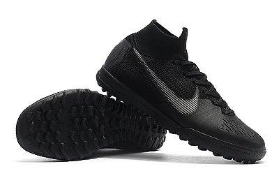 Chuteira Nike Mercurial SuperflyX 6 Elite TF Society Preta FRETE GRÁTIS