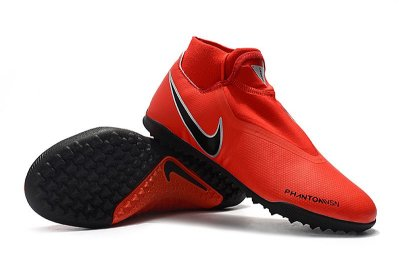 Chuteira Nike Phantom Vision Elite Society Cano Alto Vermelha e Preto