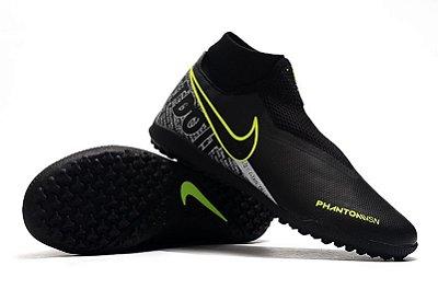 Chuteira Nike Phantom Vision Elite VSN Society Preta e Verde