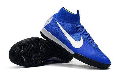 Chuteira Futsal Nike Mercurial SuperflyX 6 Elite IC Azul (Cano alto)