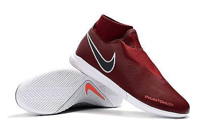 Chuteira Futsal Nike React Phantom VSN Pro DF IC Marsala (Cano Alto) FRETE GRÁTIS