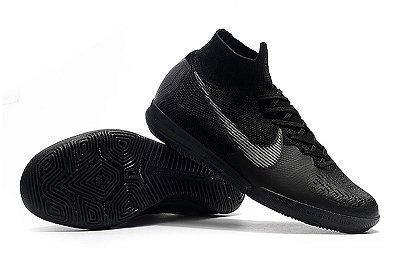 Chuteira Futsal Nike Mercurial SuperflyX6 Elite IC  Black (cano alto)