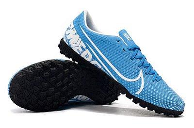 Chuteira Nike Mercurial Vapor 13 Academy Society Cr7 Azul Bebê FRETE GRÁTIS