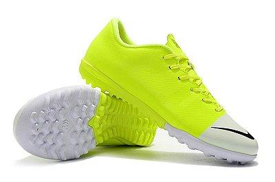 Chuteira Nike Mercurial VaporX 12 Club TF Greenspeed Verde Florescente FRETE GRÁTIS