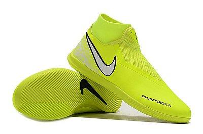 Chuteira Futsal Nike Phantom Vison Academy DF IC Verde Florescente (Cano Alto) FRETE GRÁTIS
