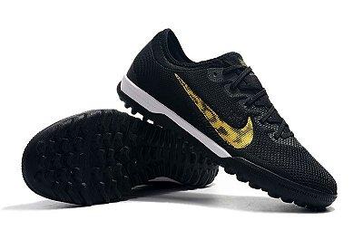 Chuteira Nike Mercurial VaporX VII Pro IC Society Black Onça FRETE GRÁTIS