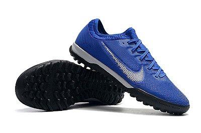 Chuteira Nike Mercurial VaporX VII Pro IC Society Neymar Junior 2019 Azul FRETE GRÁTIS