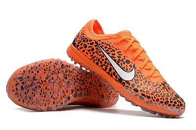 Chuteira Nike Mercurial VaporX VII Pro IC Society Laranja Onça FRETE GRÁTIS