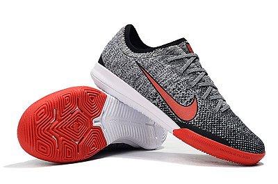 Chuteira Futsal Nike Mercurial VaporX VII Pro IC Neymar Junior Cinza e Vermelho FRETE GRÁTIS