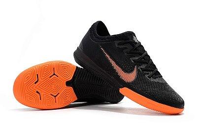 Chuteira Futsal Nike Mercurial VaporX VII Pro IC Preta e Laranja