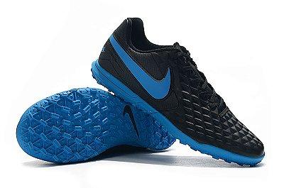 Chuteira Nike Mercurial Superfly VII Club TF Society Preta e Azul FRETE GRÁTIS