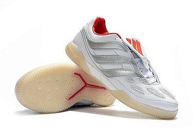 Chuteira Futsal Adidas Predator Precision TF X Beckham Branca FRETE GRÁTIS