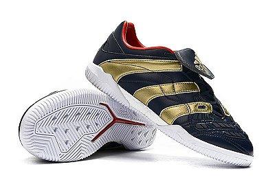 Chuteira Futsal Adidas Predator Accelerator TR Preta e Dourado FRETE GRÁTIS