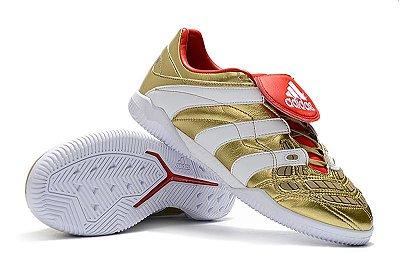 Chuteira Futsal Adidas Predator Accelerator TR Dourada FRETE GRÁTIS