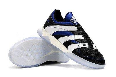 Chuteira Futsal Adidas Predator Accelerator TR Preta/Branco/Azul FRETE GRÁTIS