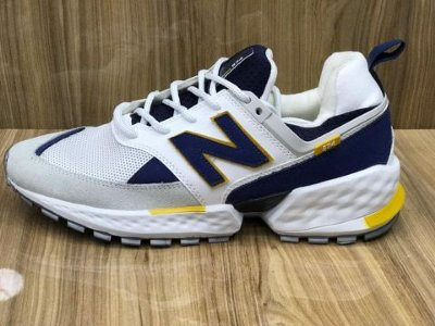 Tênis New Balance 574 V2 - Branco com Amarelo