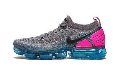 Tênis Nike Vapormax 2.0 Cinza Rosa e Azul PRONTA ENTREGA
