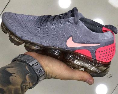 Tênis Nike Vapormax 2.0 Cinza e Rosa PRONTA ENTREGA