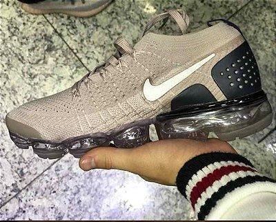 Tênis Nike Vapormax 2.0 Bege e Preto PRONTA ENTREGA