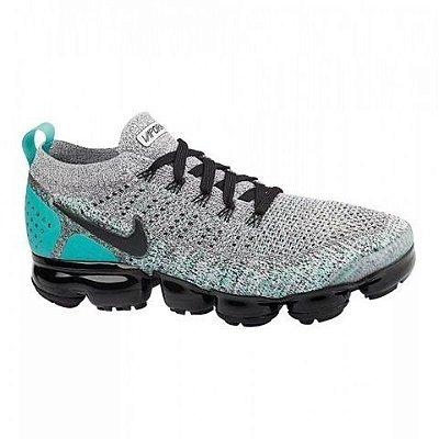Tênis Nike Vapormax 2.0 Cinza Verde e Preto PRONTA ENTREGA