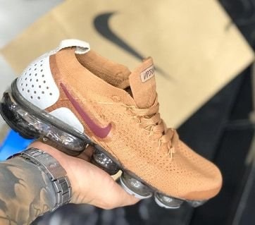 Tênis Nike Vapormax 2.0 Marrom Claro e Branco PRONTA ENTREGA