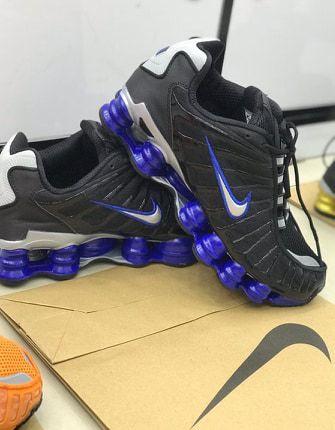 Tenis Nike Shox Tl 12 Molas Neymar Jr. Preto e Azul