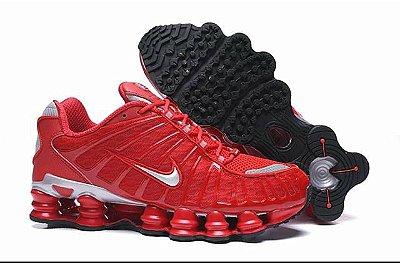 Tenis Nike Shox Tl 12 Molas Neymar Jr. Vermelho e Branco PRONTA ENTREGA