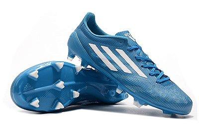Chuteira Campo Adidas X 99 1.9 Azul Claro