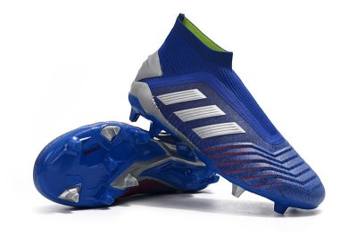 Chuteira Campo Adidas Predator 19+ FG Azul e Cinza FRETE GRÁTIS (Cano Alto)