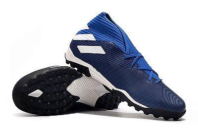 Chuteira Society Adidas Nemeziz 19.3 Azul FRETE GRÁTIS