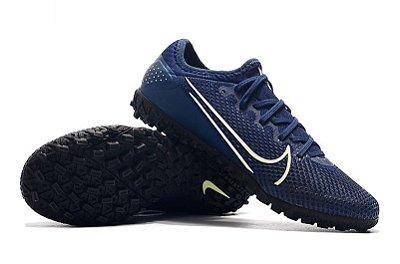 Chuteira Society Nike Mercurial Vapor 13 Pro TF Azul Escuro FRETE GRÁTIS