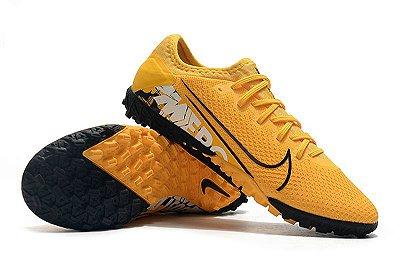 Chuteira Society Nike Mercurial Vapor 13 Pro TF Laranja