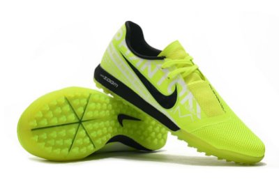 Chuteira Society Nike Zoom Phantom VNM Pro TF Verde Flourescente e Preto