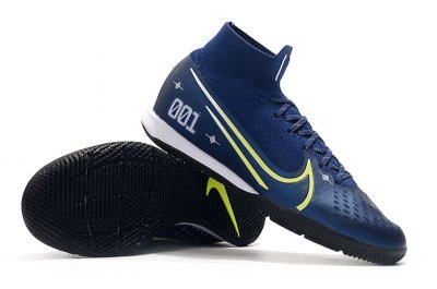 Chuteira Nike Mercurial Superfly 7 Elite MDS IC Azul Escuro CR7 FRETE GRÁTIS