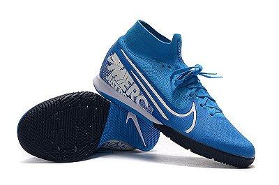 Chuteira Nike Mercurial Superfly 7 Elite MDS IC Azul Bebê FRETE GRÁTIS