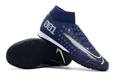 Chuteira Nike Mercurial Superfly VII Club IC Azul Escuro CR7 FRETE GRÁTIS
