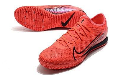 Chuteira Futsal Nike Mercurial Vapor 13 Pro IC Vermelha e Preto FRETE GRÁTIS