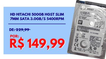 HD Hitachi 500GB HGST Slim 7mm Sata 3.0gb/s 5400rpm