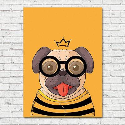 Quadro Pug com Óculos