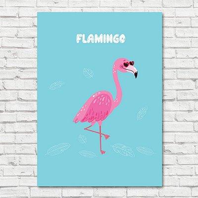Quadro Flamingo Blue