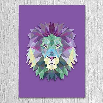 Quadro Leão Triângulo