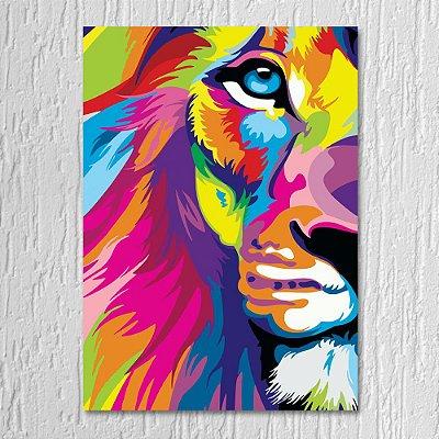 Quadro Leão Abstrato
