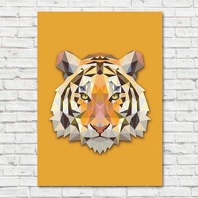 Quadro Tigre Triângulo