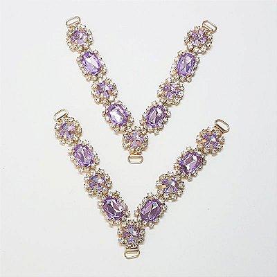 Cabedal V - Princesinha Cristal