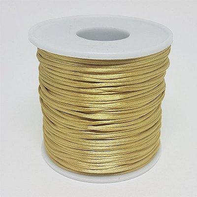 Fio de Seda 1mm 100mt (Dourado Claro)